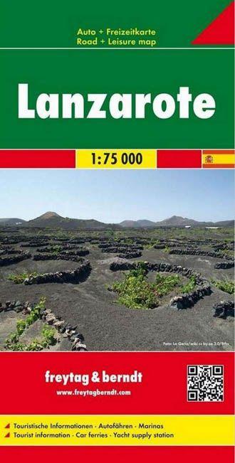 Lanzarote mapa landkarte