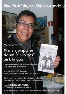 """María Gutiérrez mit ihrem Buch """"Chilajitos"""""""