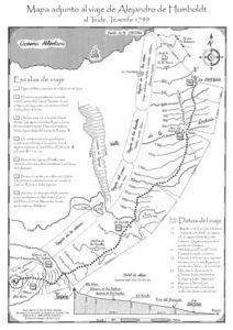 Mapa del camino que cogió Humboldt 1799 al Teide, Editorial Zech