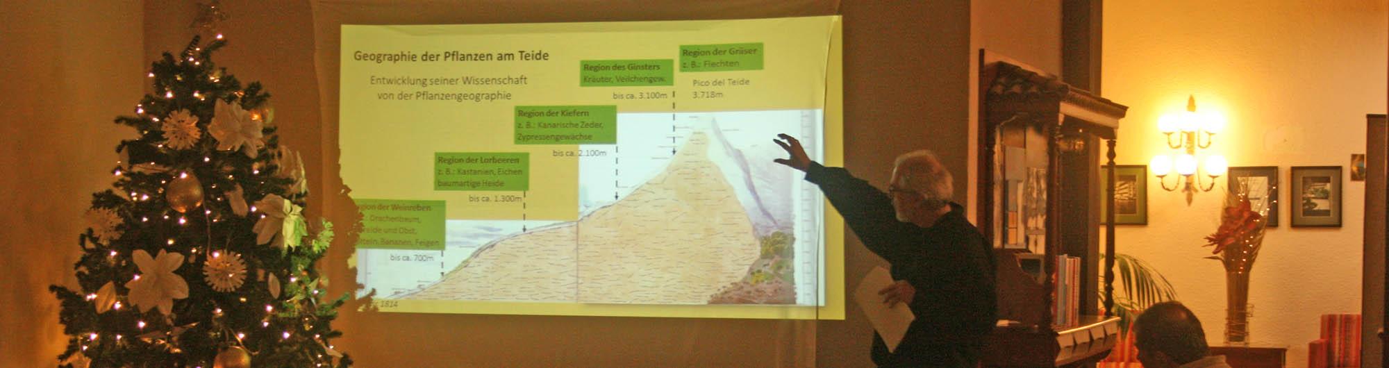 Vorträge über Humboldts Reiseweg zum Teide, Reinhold Mengel