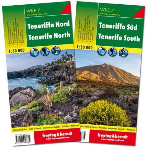 Tenerife mapa de senderos Wanderkarte